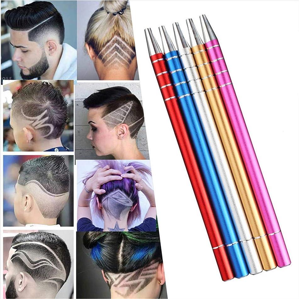 Engrave Beard Hair Scissors Shavings Eyebrows Razor Carve Pen Shears Tattoo Barber Hairdressing Scissors Blue