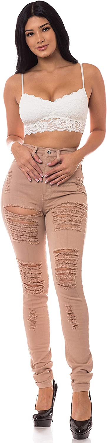 AP bluee Aphrodite High Waisted Jeans for Women  High Rise Skinny Womens Distressed Ripped Jeans