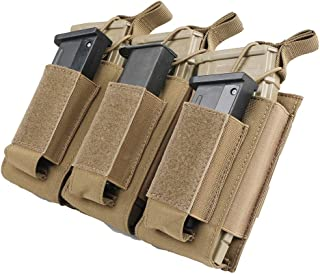 EXCELLENT ELITE SPANKER Open-Top Single/Double/Triple Mag Pouch for M4 M16 AK AR Magazines and Pistol Mag Pouch