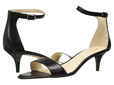 Nine West Leisa Heel Sandal (Black Leather) Women