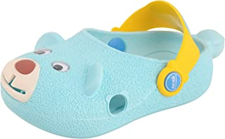Yellow Bee Puppy Clogs for Boys, Blue