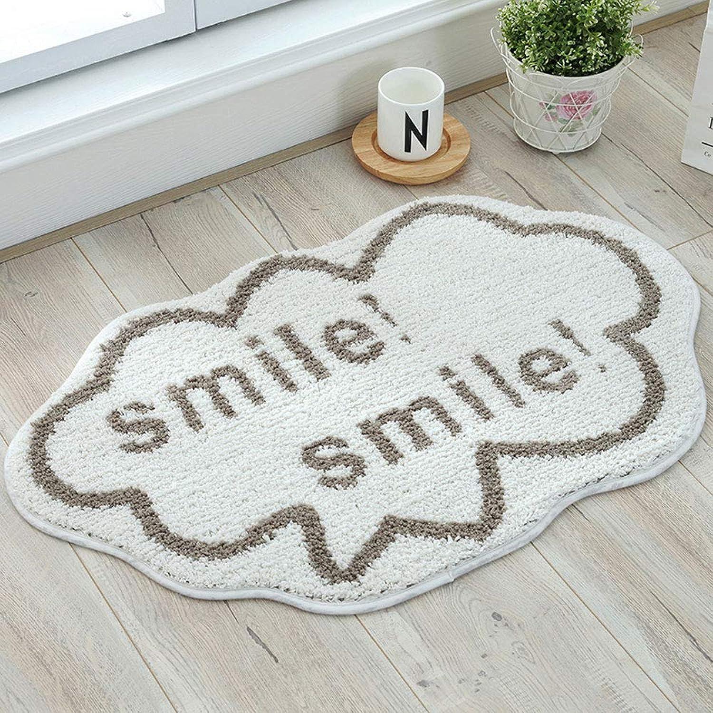 Ping Bu Qing Yun Floor mat - Polyester TPR, Comfortable Foot, Fast Water Absorption, Creative Cloud-Shaped Bedroom Bathroom Door Non-Slip Absorbent Foot pad - 2 colors, 3 Carpet