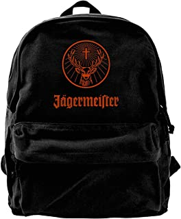 Mochila de lona con logotipo de Jagermeister para gimnasio, senderismo, portátil, bolsa de hombro para hombres y mujeres