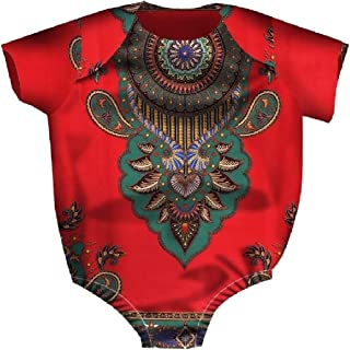 Howely Kid Girl African Style One-Piece Undershirts Bodysuits Outfits