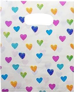 【plum forest】ハート柄 買い物袋 50枚(Mサイズ)