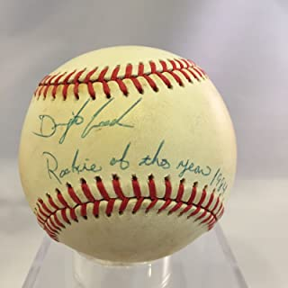 1984 Dwight Doc Gooden Signed NL Baseball Inscribed Rookie Of The Year Jsa Coa
