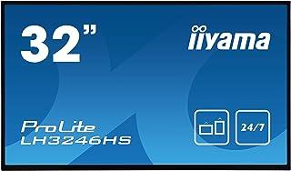 "Iiyama Prolite LH3246HS-B1 - Pantalla de señalización Digital (80,1 cm/31,5"", IPS-LED, Full-HD 24/7, VGA, DVI, 2 entradas HDMI, Displayport, RS232, RJ45, IR, USB 2.0), Color Negro"