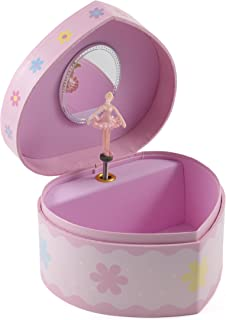 BigKitchen Berkeley Designs Pink Heart Shaped Musical Jewelry Box with Ballerina