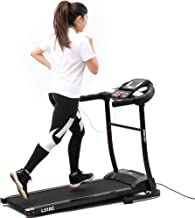 2019 Folding Electric Treadmills, Motorized Running Machine Fitness, Folding Running Belt, Led Display Console with Built in Tablet/Phone Holder and Beverage Holders, Great for Home, Indoor use
