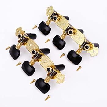 Alice Classical Guitar String Tuning Keys Pegs 2pcs(L&R) String Tuners 3+3 Machine Heads Short