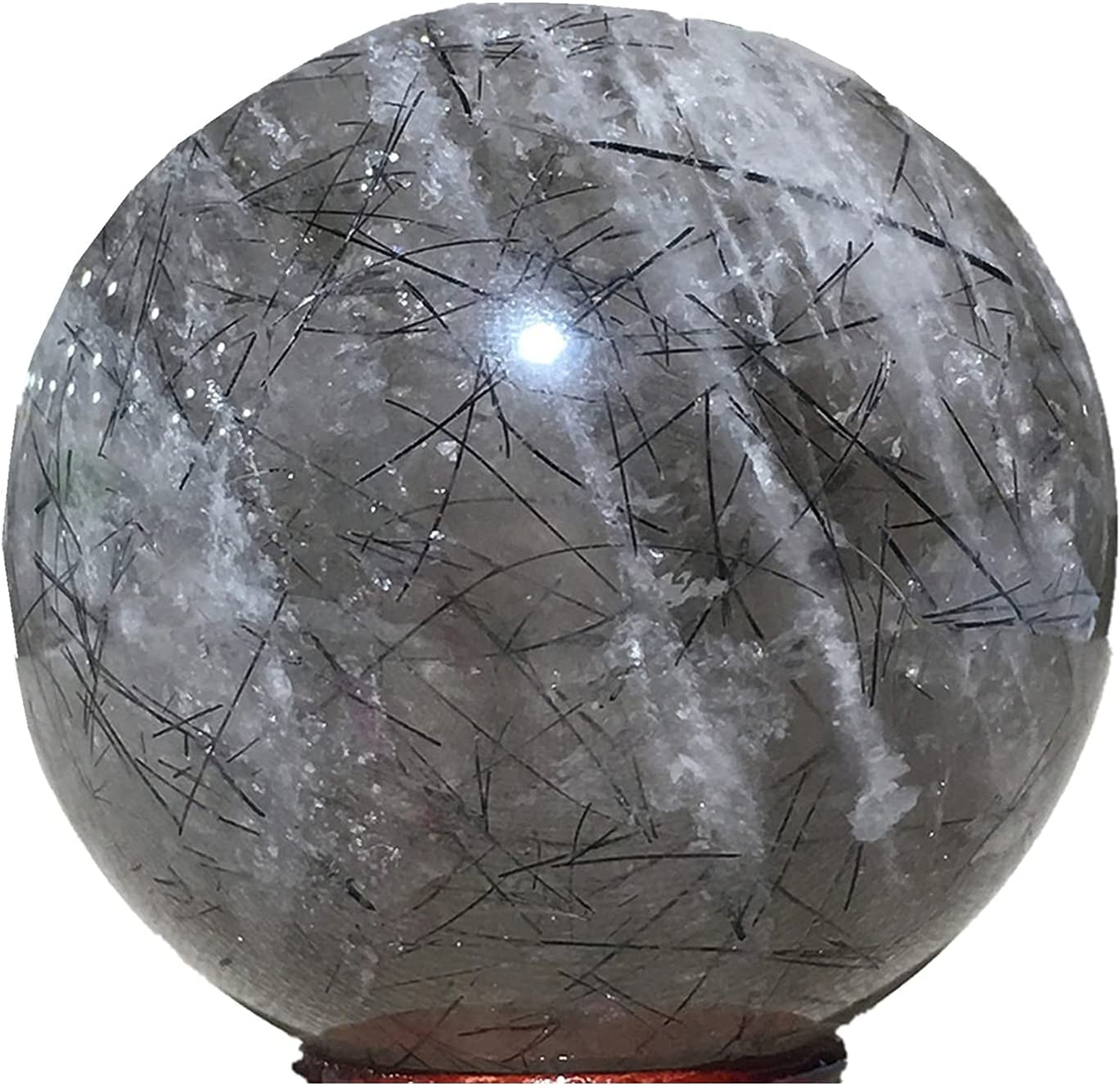 Free Shipping Cheap Bargain Gift Stones Natural Shipping included Sphere Tourmaline Crystal Furnishing Home We