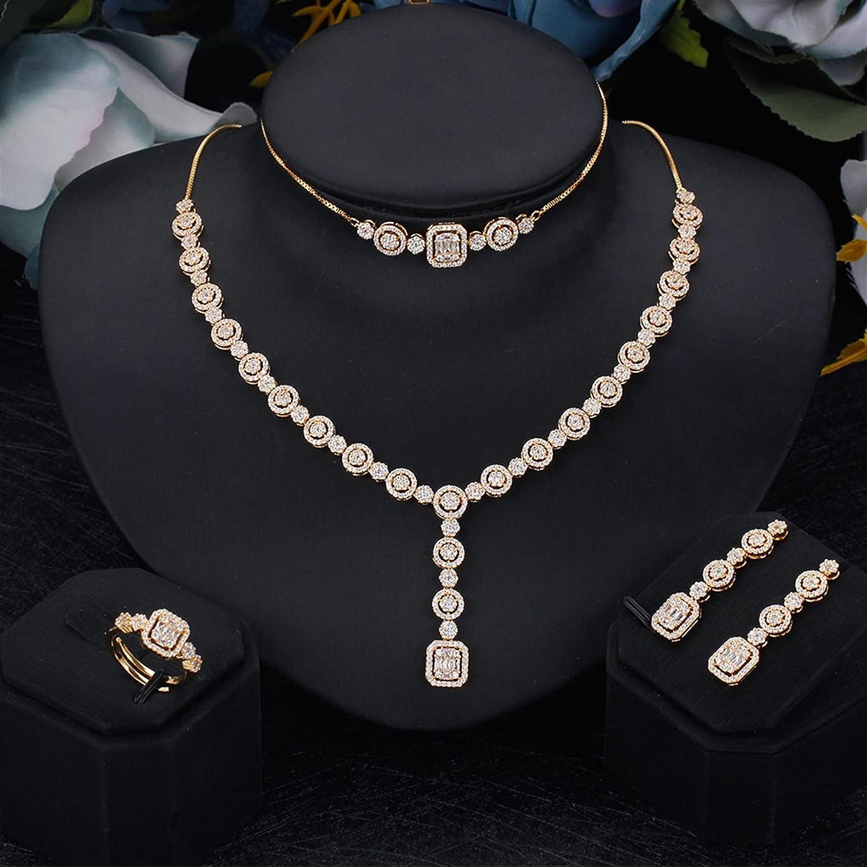SYXMSM Jewellery Set Bridal Jewelry Wedding Cubic Zirconia R Popular brand Some reservation