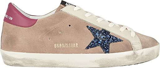 Golden Goose Women's Sneakers Superstar Desert Suede-Blue Glitter Star G35WS590.R42
