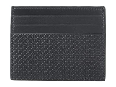 Salvatore Ferragamo Mini Gancio Card Holder (Black) Coin Purse