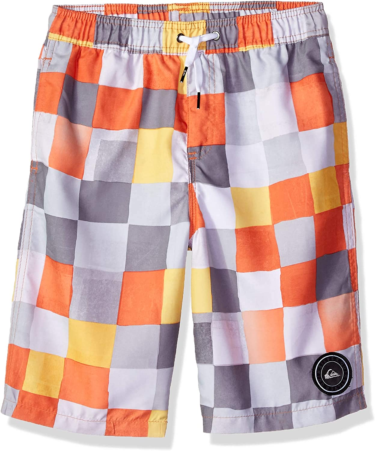 Quiksilver Boys Resin Check Volley Youth 19 Boardshort Board Shorts