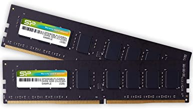 シリコンパワー デスクトップPC用 メモリ DDR4 3200 PC4-25600 8GB x 2枚 (16GB) 288Pin 1.2V CL22 SP016GBLFU320B22