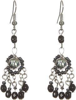 DCA Glass Brass Earrings for Women