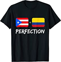 Puerto Rican Plus Colombian Perfection Heritage Gift T-Shirt