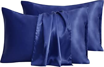 Satin Pillowcase, T Tersely 2 Pack Silk Satin Pillowcases for Hair and Skin Queen Size Pillow Case with Envelope Closure (...