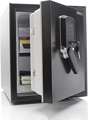 Honeywell Safes & Door Locks - 2607 Steel Submersible Waterproof 2 Hour Fire Safe; Digital Lock; Motion Alarm; 1.74 Cubic Feet Capacity, 21.3 Inches High; 18.1 Inches Wide; 20.9 Inches Deep, Black