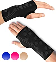 Sparthos Wrist Support Sleeves (Pair) – Medical Compression for Carpal Tunnel and Wrist Pain Relief – Wrist Brace for Men ...