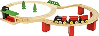 BRIO World - 33424 Classic Deluxe Railway Set   25 Piece Train Toy with Accessories and Wooden Tracks for Kids Ages 2 and Up