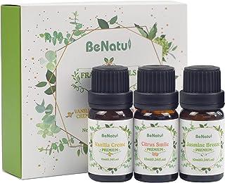 Fragrance Essential Oils (Vanilla, Citrus, Jasmine Scents) for Candle and Soap Making - Premium Grade Set for Diffuser, DI...