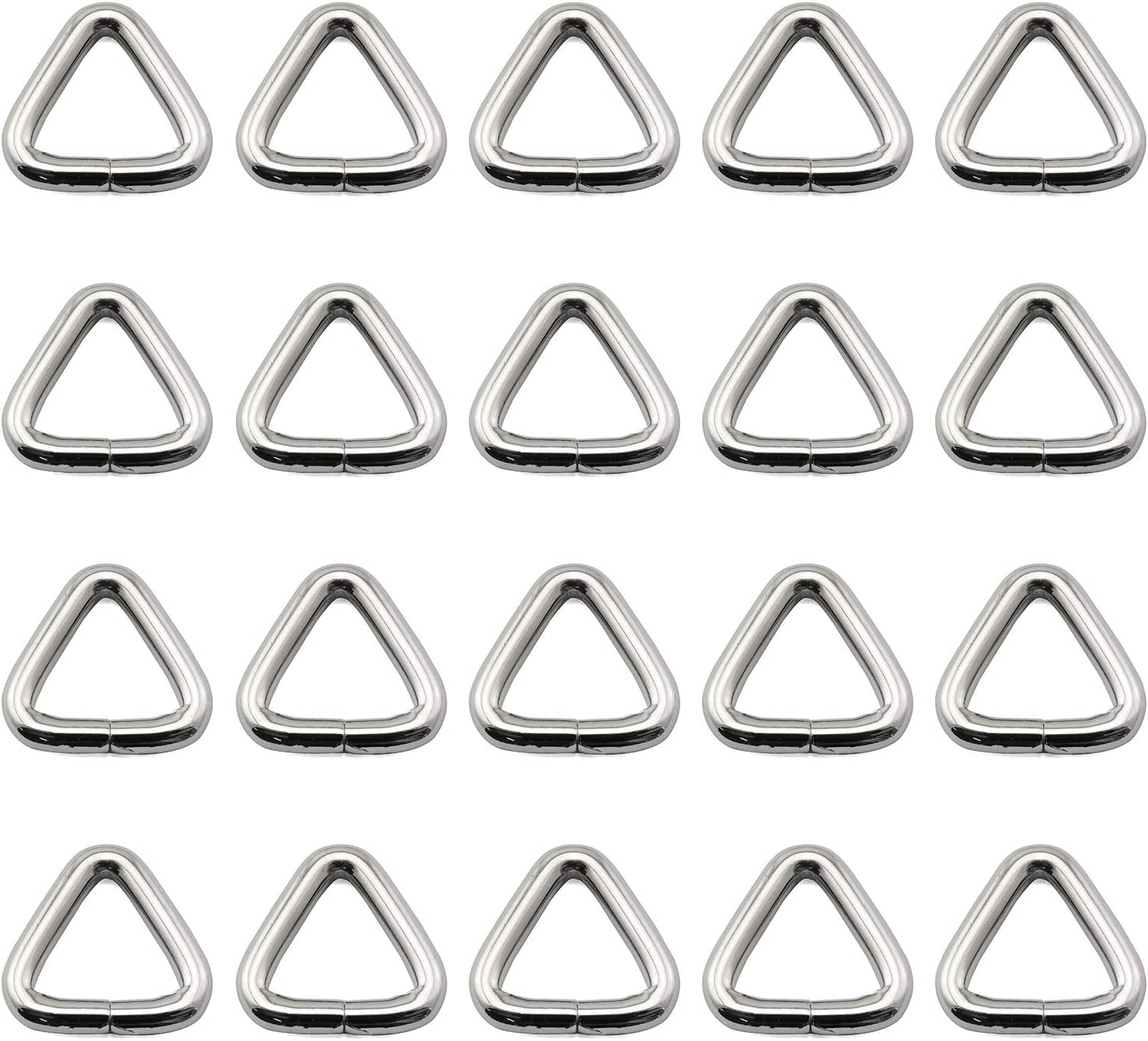 Magicshell Triangle Ring 20PCS 20mm/0.79inch Silver Unwelded Me