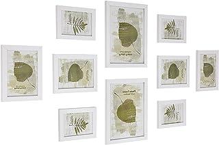 comprar comparacion SONGMICS Set de 10 Marcos de Fotos para Pared con Diferentes Tamaños Tableros de MDF Blanco RPF310W
