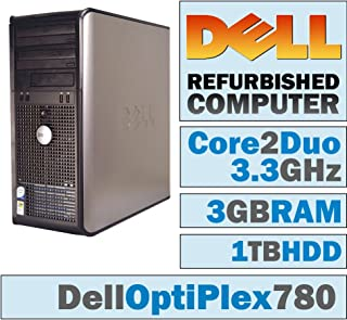 Dell OptiPlex 780 Tower/Core 2 Duo E8600 @ 3.33 GHz/ 3GB DDR3 / 1TB HDD/DVD-RW/WINDOWS PRO 32 BIT
