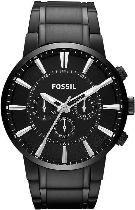 orologio fossil cronografo quarzo uomo con cinturino in acciaio inossidabile fs4778