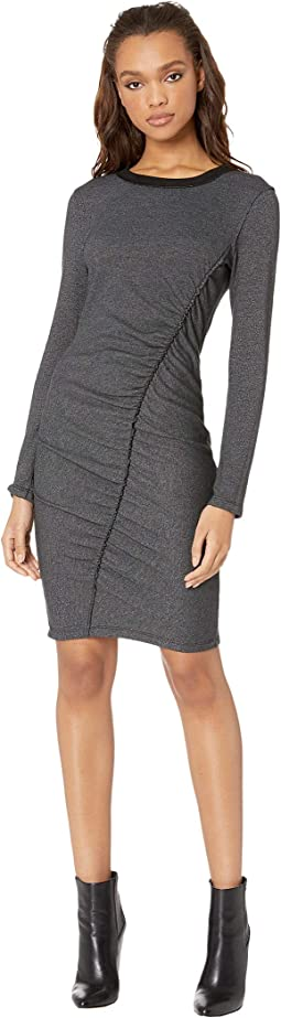 Logan Shirred Midi Dress