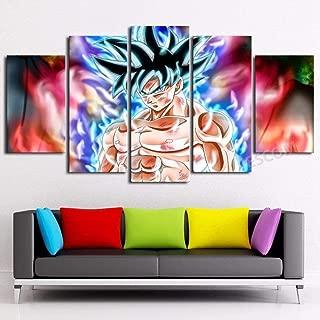 JESC 5 Panels Canvas Painting Anime New Form Wall Art Decorative Pictures Home Decor Wall Framework (30x50cmx2,30x70cmx2,30x80cmx1) … …