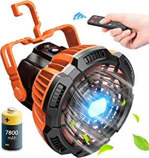 Portable Camping Fan Rechargeable With LED Lantern,...