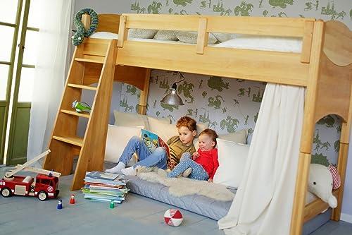 BioKinder 22731 économies fixés  Noah lit mezzanine 120 cm. Aulne biologique