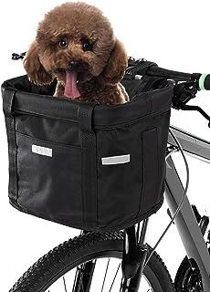 Cesta Dianteira Da Bicicleta,Baugger Cesta dianteira da bicicleta removível à prova d'água bicicleta guiador cesta pet tra...