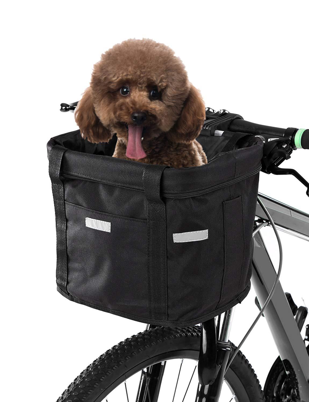 Lixada Cesta Delantera de Bicicleta Lona Desmontable Impermeable ...