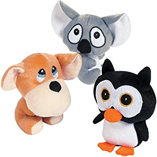 Fun Express Big Head Plush Animals - Toys - 12 Pieces