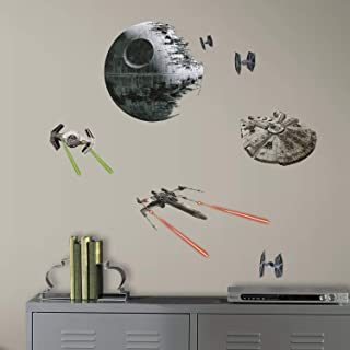 RoomMates Star Wars Classic Spaceships Peel and Stick Wall Decals, Multicolor, RMK3012SCS