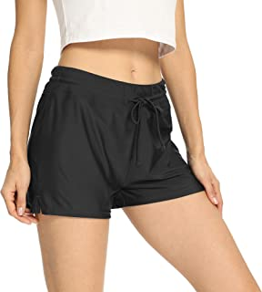 BASIC EDITIONS Women's Swim Shorts Plus Size Quick Dry Swimsuit Bottom Board Shorts Swimming Trunks S-3X