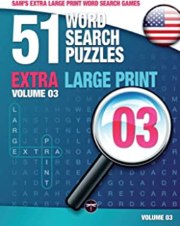 Sam's Extra Large Print Word Search Games, 51 Word Search Puzzles, Volume 3: Brain-stimulating puzzle activities for many ...