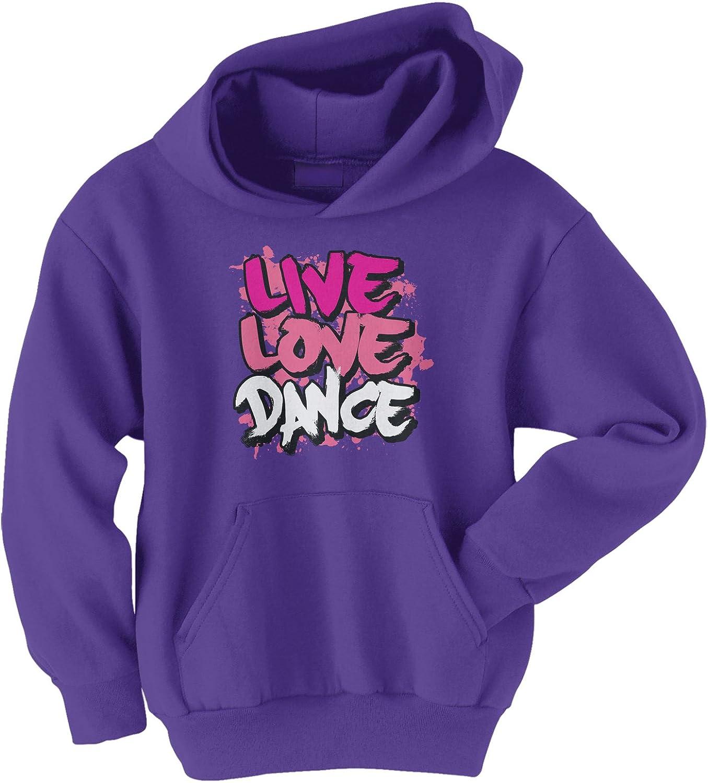 Threadrock Big Girls' Purchase Live Love Youth Financial sales sale Sweatshirt Dance Hoodie