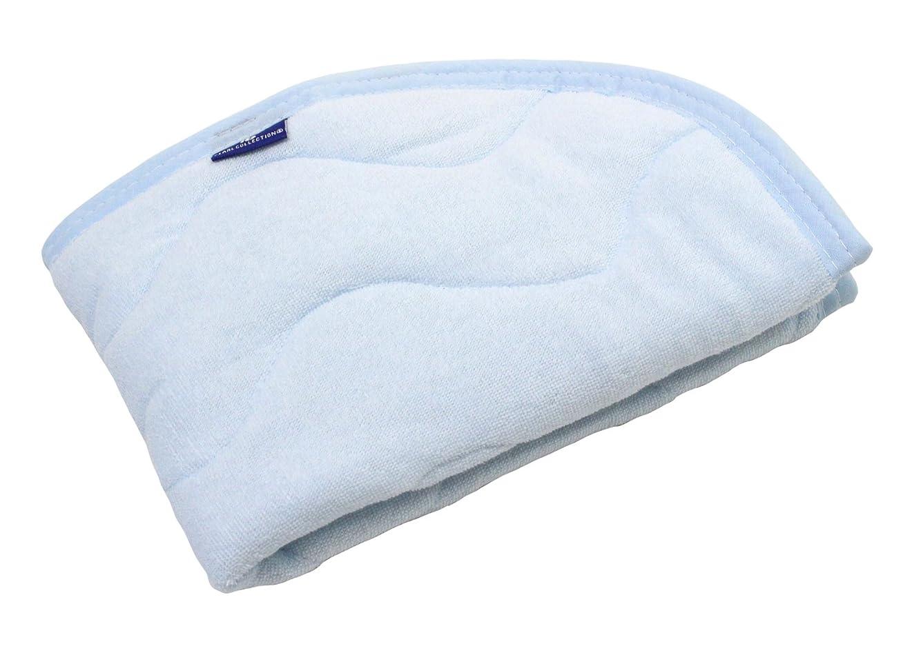 呼ぶ記念日迷路抗菌防臭 SEK加工 綿シンカーパイル 枕パッド 35×50cm ブルー 2453BL