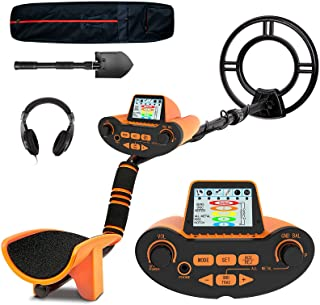 SUNPOW Professional Metal Detector for Adults, Adjustable Ground Balance, Disc & Notch & Pinpoint Modes, Upgraded DSP Chi...