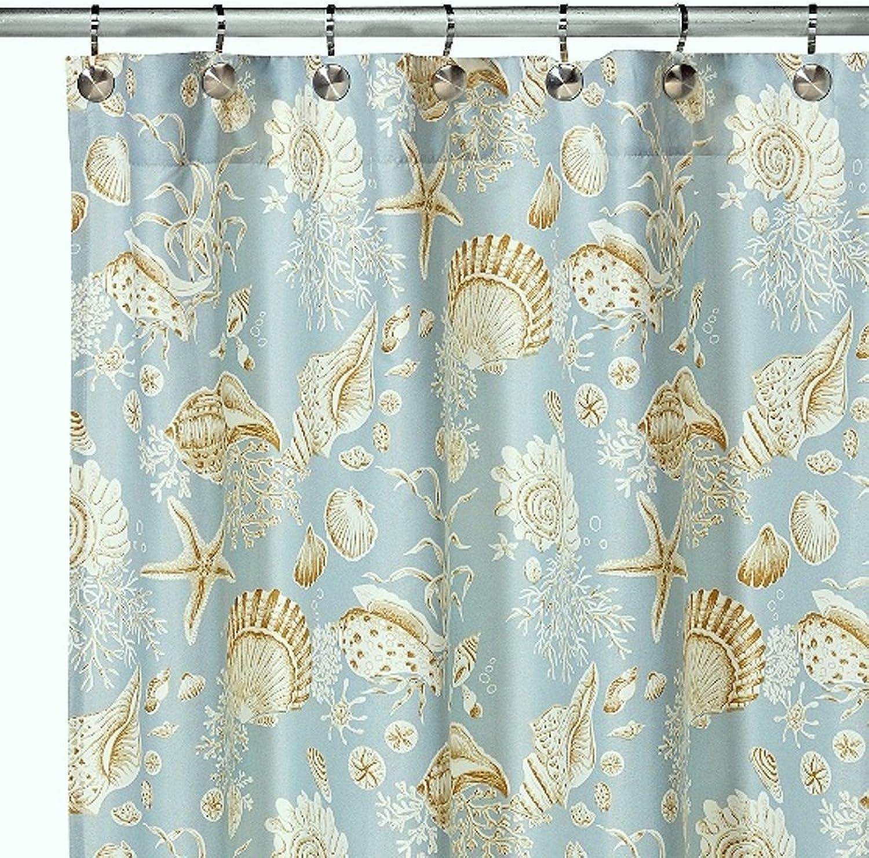 C&F Home Natural Shells Shower Curtain Shower Curtain Green