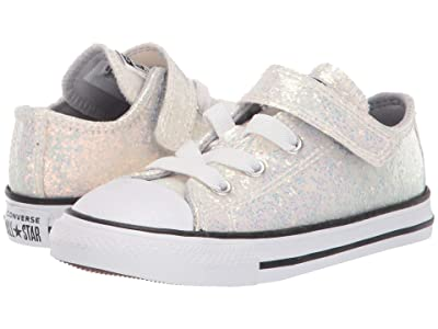 Converse Kids Chuck Taylor(r) All Star(r) 1V Ox (Infant/Toddler) (Wolf Grey/Black/White) Girls Shoes