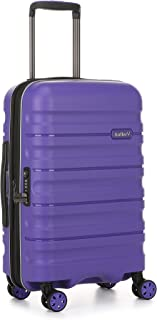 Antler Juno 2 4W Cabin Roller Carry-On Hardside, Purple, 56cm