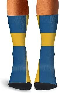 Mens Compression Socks Soccer Socks Russian Flag Crew Socks for Running