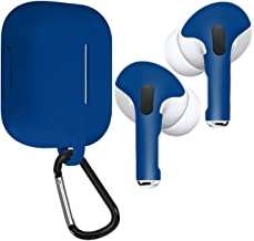 APSkins Skins and Silicone Case Cover for AirPods Pro. Protective Wraps Stickers to Cover Air Pods – Compatible Sticker Vinyl Wrap Decal with Apple Air Pod Accessories (Admiral Blue)