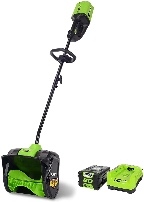 Greenworks Manufacturer direct delivery PRO 80V 12-Inch Cordless 2.0 Shovel Battery SALENEW very popular! Snow AH